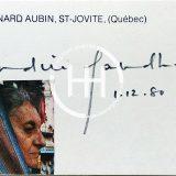 December 1 1980 - Indira Gandhi Autograph English